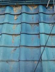 修正後の瓦屋根