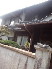 玄関入母屋の屋根
