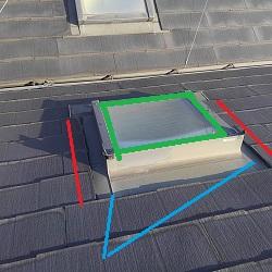 スレート屋根天窓雨漏り