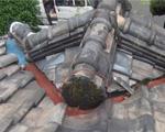 V谷陸棟尻オーバーフロー型雨漏り屋根修理