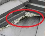 漆喰二段目チリ超塗りすぎ型雨漏り