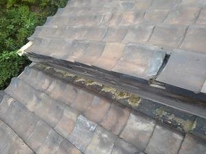 大阪市阿倍野区での屋根修理調査