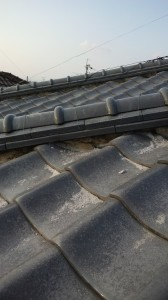 大阪府での瓦屋根修理工事