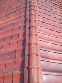 明石塩焼き瓦屋根修理工事現調