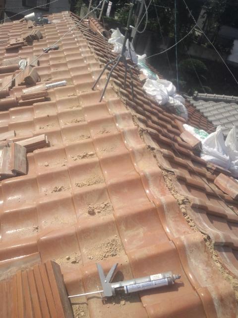 兵庫県の瓦屋根修理工事