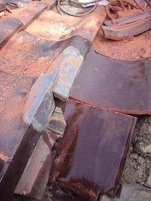 ケラバ棟違い雨漏り修理