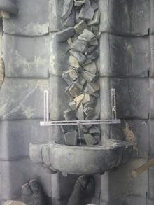 京都府の降り棟瓦の修理