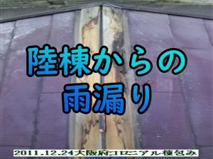 大阪府の陸棟からの雨漏り