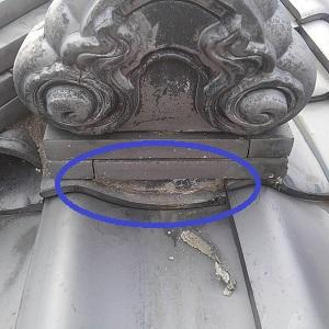 降り棟台の漆喰は不要です