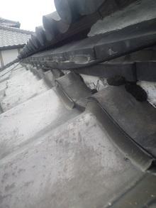 和泉錣(いずみしころ)錣屋根雨漏り