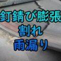 鉄釘・亜鉛メッキ釘錆び膨張割れ雨漏り・大阪府
