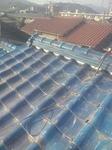 京都府での瓦屋根雨漏り修理工事