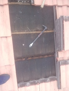 兵庫県での瓦屋根雨漏り修理工事