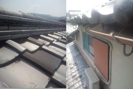 天理市の瓦屋根修理調査