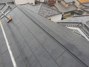 屋根修理工事(高槻市)一日仕上げです。