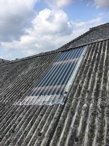 猪名川町での雨漏り修理工事