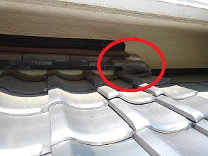 富田林市の瓦屋根修理