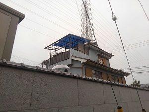 和泉市の瓦屋根雨漏り調査