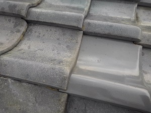堺市西区の瓦屋根修理と調査