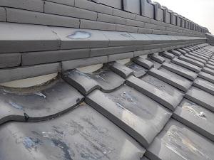 高槻市で屋根漆喰工事を致しました。