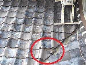 池田市の瓦屋根点検