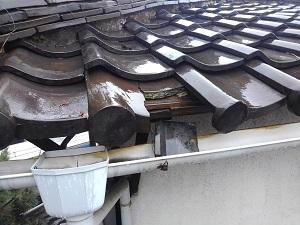 大阪市阿倍野区の屋根修理調査