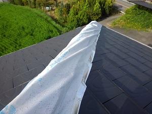 河南町での瓦屋根修理調査