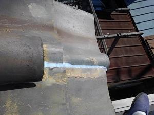 阿倍野区での屋根修理調査