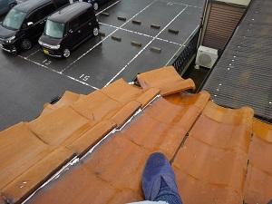 堺市で台風21号の応急処置を施工致しました