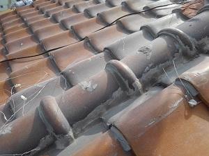 堺市中区・瓦屋根雨漏り修理