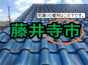 藤井寺市の雨漏り修理や屋根修理!愛の現場リポート!