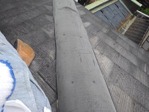 西淀川区の棟板金修理工事