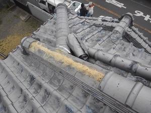 高槻市での瓦屋根修理