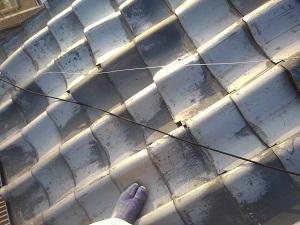 堺市西区の屋根修理調査