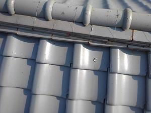高槻市の瓦屋根修理調査です。
