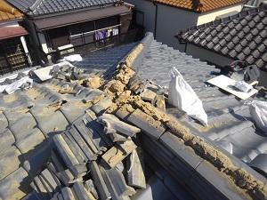 伊丹市の棟瓦修理