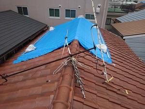 吹田市の瓦屋根修理調査