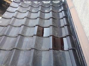 堺市中区での瓦屋根修理
