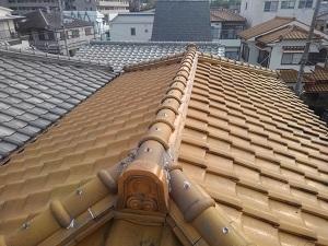 川西市の屋根修理調査
