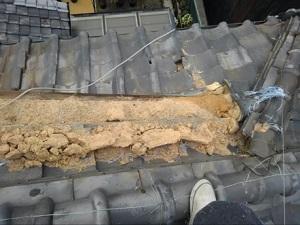 羽曳野市での瓦屋根修理調査