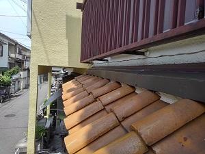 堺市中区での水切り熨斗瓦修理