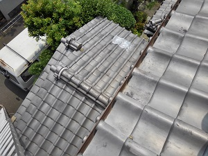 瓦屋根の修理調査岸和田市