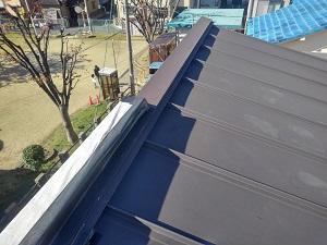 高槻市の板金屋根修理調査