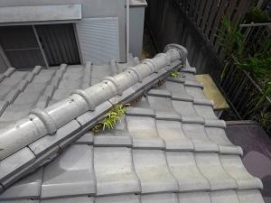 奈良県生駒市の瓦屋根修理調査