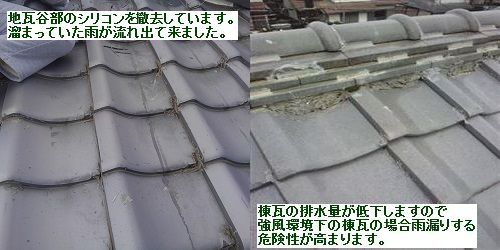 コーキングを屋根全面に塗るのはやめましょう