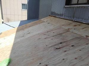 屋根下地・構造用合板の施工