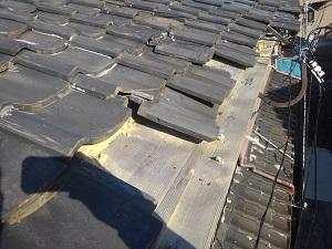 岸和田市の瓦屋根修理・雨漏り修理