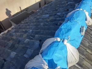 岸和田市の瓦屋根雨漏り修理