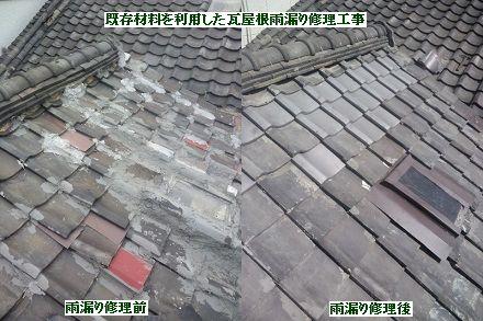 瓦屋根の葺き直し費用