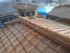 吹田市の瓦屋根修理工事